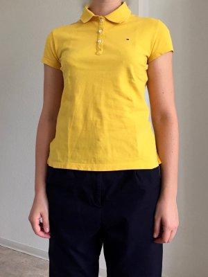 Tommy Hilfiger Camiseta tipo polo amarillo-blanco puro Algodón
