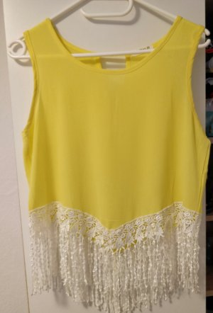 Cut Out Top white-yellow
