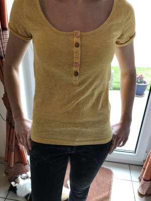 Review T-shirt orange doré-jaune