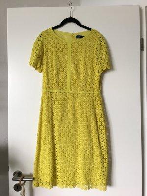 Gelbes Sommerkleid Häkeloptik, Gr. S