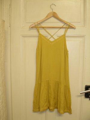 gelbes Sommerkleid von Promod, XS, lässiger Style