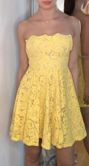 Tally Weijl Vestido bustier amarillo-nude