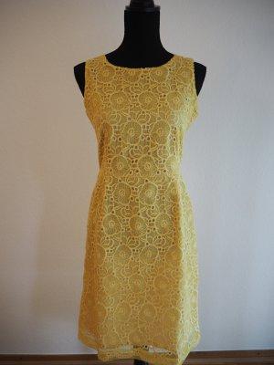 Ana Alcazar Lace Dress yellow polyester