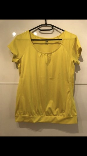 H&M Sports Shirt yellow-neon yellow
