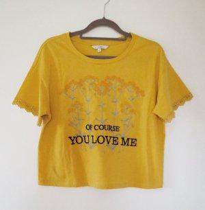 gelbes T-shirt C&A mit Stickerei