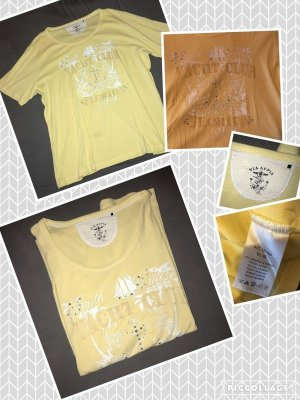 Via appia due Camiseta amarillo claro-blanco