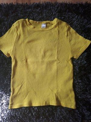 H&M T-shirt sleutelbloem-geel Katoen