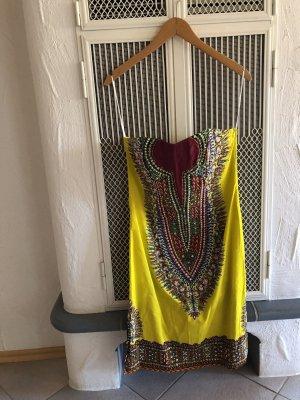 gelbes trägerloses Kleid aus Thailand