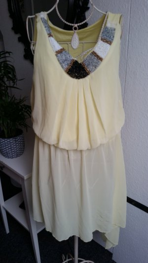 High Low Dress pale yellow-yellow