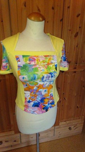 Gelbgemustertes Shirt
