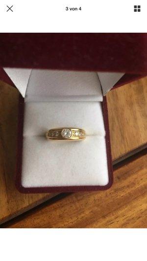 Gelbgold Ring 750/ Diamanten 0,55 ct