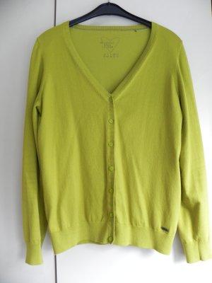 Gelbgrüner Cardigan