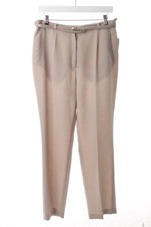 Gelco Pantalon à pinces beige moucheté style rétro