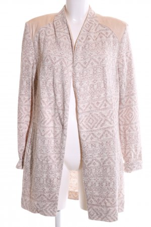 Gelco Cardigan pink grafisches Muster Casual-Look