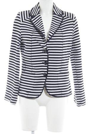 Gelco Jerseyblazer weiß-dunkelblau Streifenmuster Casual-Look