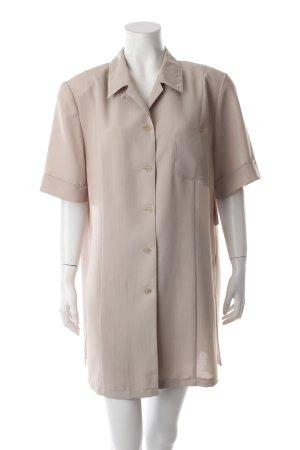 Gelco Kurzarm-Bluse beige meliert Vintage-Look