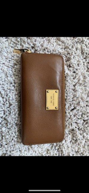 Michael Kors Cartera marrón-color oro