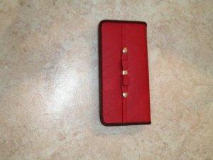 Geldbeutel, rot, mit Schleife