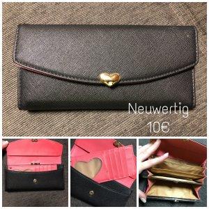 Portemonnee zwart-roze