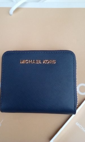 Michael Kors Wallet gold-colored-dark blue leather