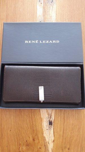 René Lezard Wallet grey brown leather