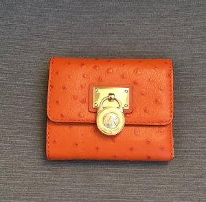 Michael Kors Wallet dark orange leather