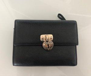Coccinelle Cartera negro-color oro Cuero