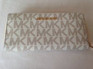 Michael Kors Wallet natural white-brown leather