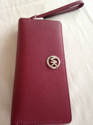Michael Kors Wallet magenta-silver-colored leather