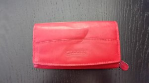 Wallet red leather