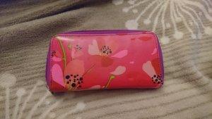 Geldbörse Portemonnaie pink Blumen Pylones