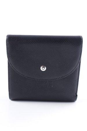 Portefeuille noir imprimé allover élégant
