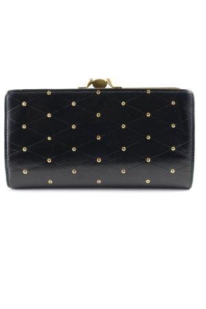 Wallet black-gold-colored elegant