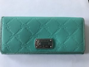 Longchamp Portefeuille turquoise cuir