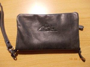 Wallet dark grey leather