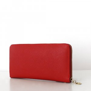 Wallet red-neon red imitation leather