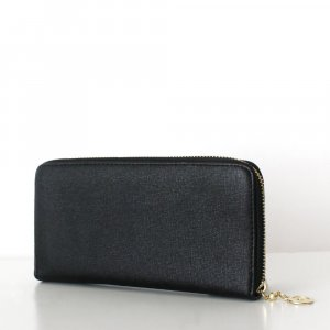 Wallet black imitation leather