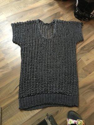 Sisley Top en maille crochet gris foncé