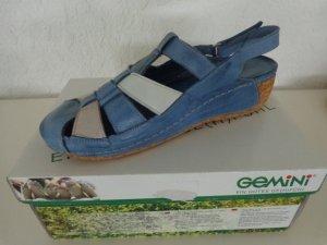 Comfort Sandals neon blue-blue leather