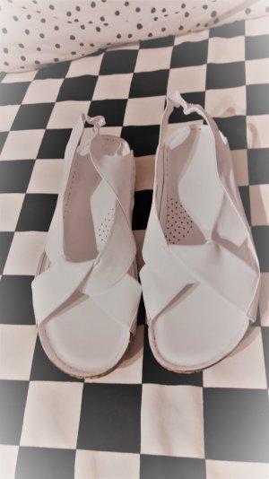 Sandalo comodo bianco Pelle