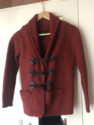 Mango Suit Wollen Jack karmijn-roodbruin