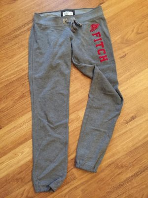Abercrombie & Fitch Pantalone fitness grigio-rosso scuro