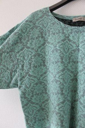 Gemütlicher Jacquard-Pulli mit grünem Muster