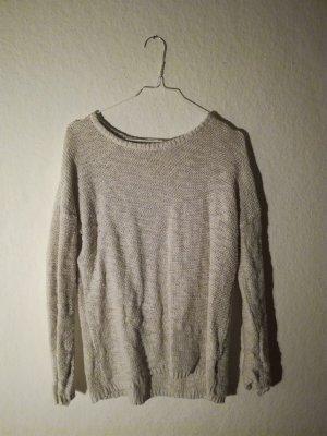 Gemütlicher leichter Pullover in beige