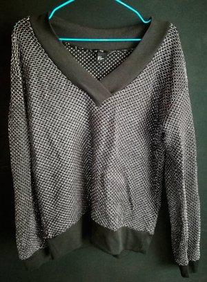 Gemütlicher Party Pullover mit Silber für Silvester