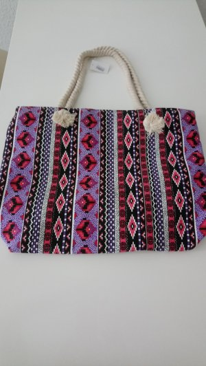 Shopper multicolored polyester