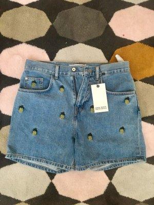 gemusterte Ananas-Shorts