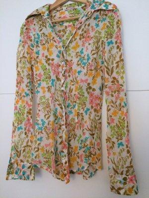 Gemusterte Baumwoll-Bluse * Größe S