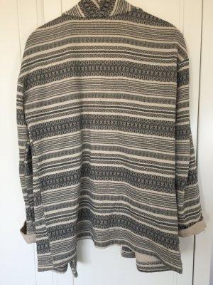 Gemusterte Baumwoll Jacke mit Taschen geschnitten wie ein Blazer.