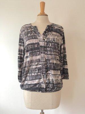 Gemusterte Bluse aus Jersey mit Dreiviertel-Ärmeln